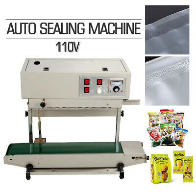 W Frame Continuous Automatic Sealing Machine Band Sealer Plastic Bag Film 110v