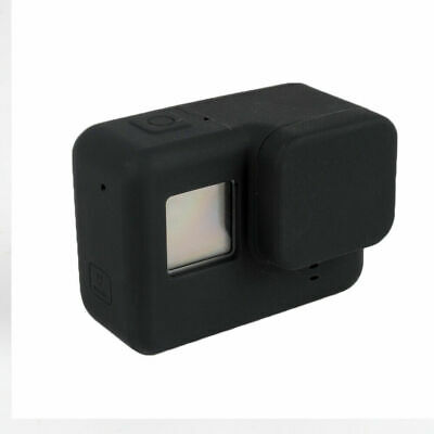 Black Soft Silicone Camera Protective Case with Lens Cap Cover for GoPro Hero 7