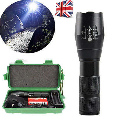 5000LM Cree XML T6 LED Flashlight Tactical Zoomable Police Torch Lamp 18650 Ch