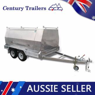10 x 5 Tandem Tradies Trailer With Alloy Canopy - ATM 2000kg