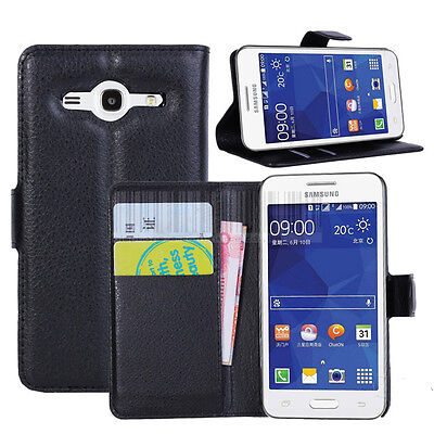 PU Leather Flip Case Card Wallet Stand Cover  For Samsung Galaxy Core II 2 G355H