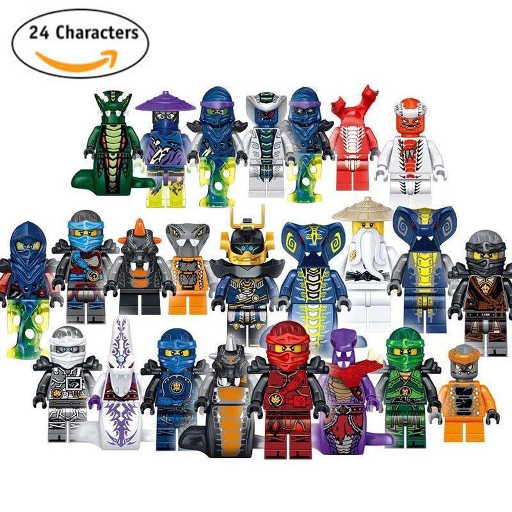 24 Stücke Mini Figuren Ninjago Kai Jay Sensei Wu Master Bausteine Spielzeug DE