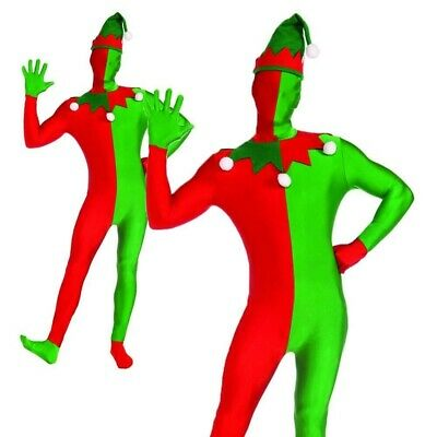 Elfe Zweite Haut Anzug Kostüm Verschwinden Man Weihnachten Herren Kostüm Outfit