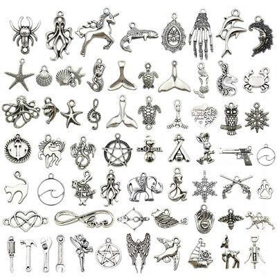 200 Type Tibetan Silver Charms Pendants Carfts Fashion Bracelet Jewelry -
