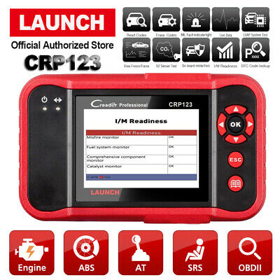LAUNCH X431 CRP123 Car OBD2 Diagnostic Scanner Check Transmission ABS SRS Engine