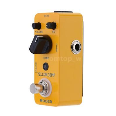Mooer Yellow Comp Micro Mini Optical Compressor Effect Pedal for Electric P3V6