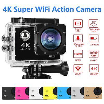 WiFi 1080P 16MP 4K Action Kamera Sports DV Cam LCD Bildschirm Digital Camcorder