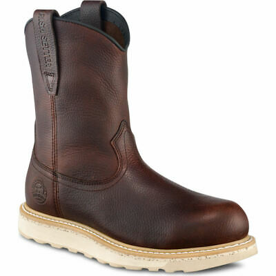 """Irish Setter ASHBY SOFT TOE 9"""" Mens 83909 Brown Leather Pull On Boots"""