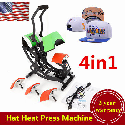 4 In 1 Digital Hat Heat Press Machine Sublimation Transfer Machine Hat Cap 500w
