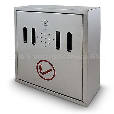 Wandaschenbecher Edelstahl Wandascher Raucherkasten Aschenbecher Verschließbar