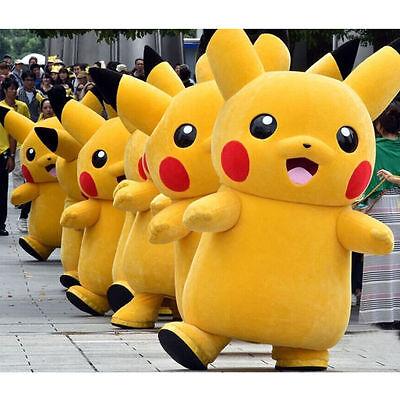 Brand Pokemon Go Pikachu Mascot Costume Halloween Cos Game Dress Adults Size New - Brand Mascot Halloween Costumes