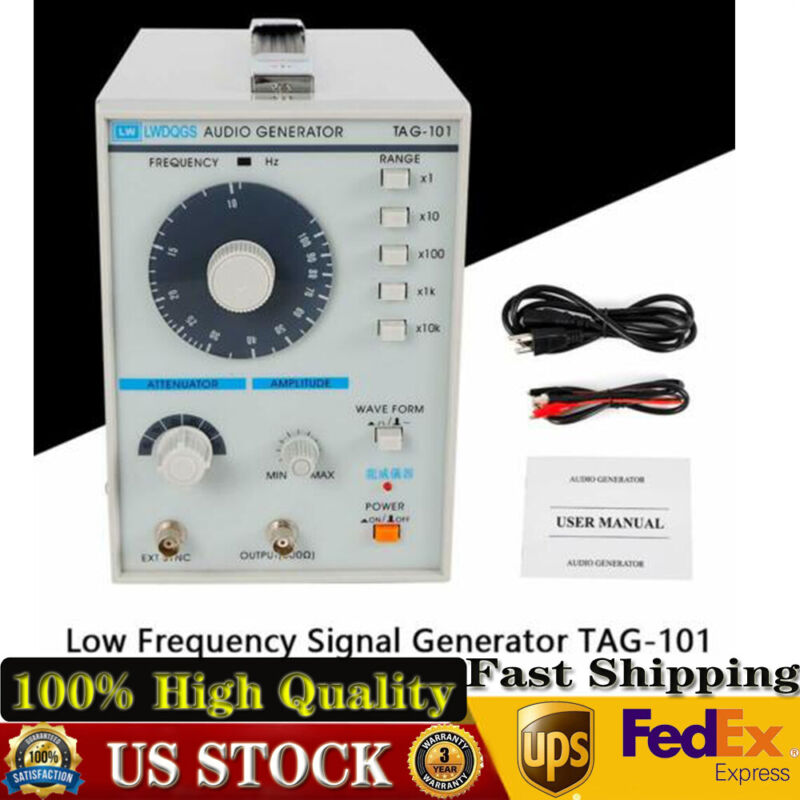 Sine/Square Waves 10Hz-1MHz Audio / Low Frequency Signal Generator TAG-101 USA