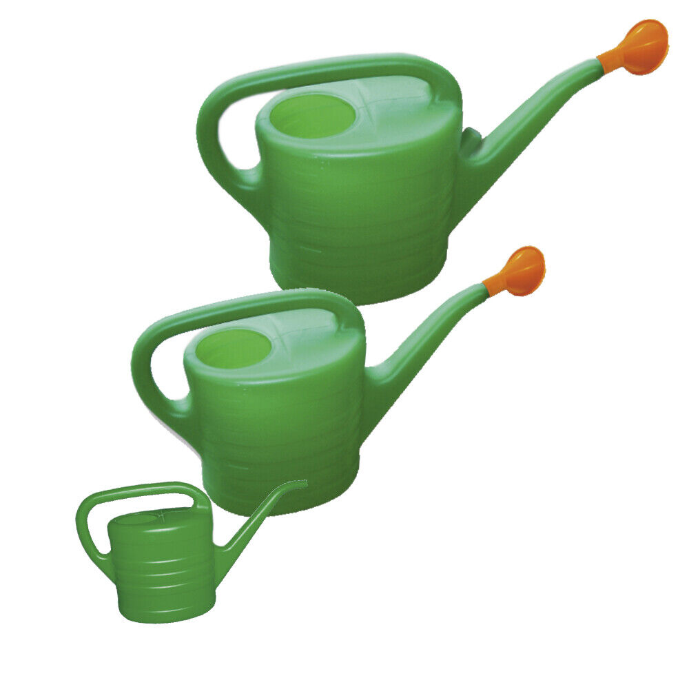 Gie/ßkanne mit T/ülle Wasserkanne Spritzkanne Kunststoff 5 Liter gr/ün NEU