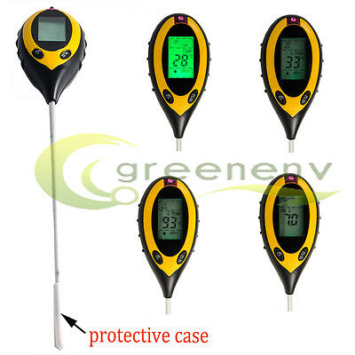 4-in1 PROFESSIONAL LCD TEMPERATURE MOISTURE SUNLIGHT PH ...