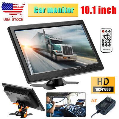 "1080P TFT 10.1"" LCD CCTV Monitor PC Screen AV RCA VGA HDMI Display Video US Plug"