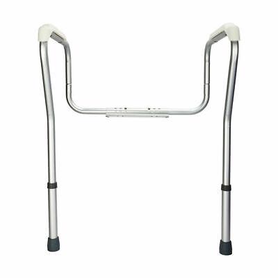 Toilet Support Rail Grab Bars Adjustable Safety Handicap Assist Elderly Bathroom Adjustable Toilet Safety Rail