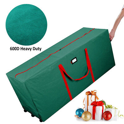 Rolling Artificial Christmas Tree Storage Duffle Bag Box For Up To 9' Heavy Duty ()
