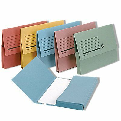100 X ASSORTED DOCUMENT WALLETS FILING FOLDERS CARD FOOLSCAP/A4 FILES COLOURS