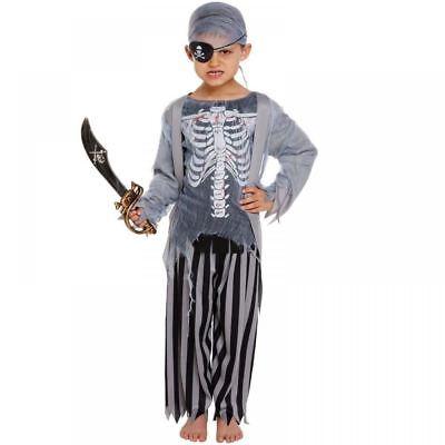Kinder Zombie Pirat Skelett Geisterschiff Halloween Kostüm Kleid - Geisterschiff Pirat Kind Kostüm