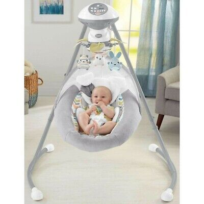 Fisher-Price Sweet Snugapuppy Dreams Cradle 'N Swing - White (DRG43)