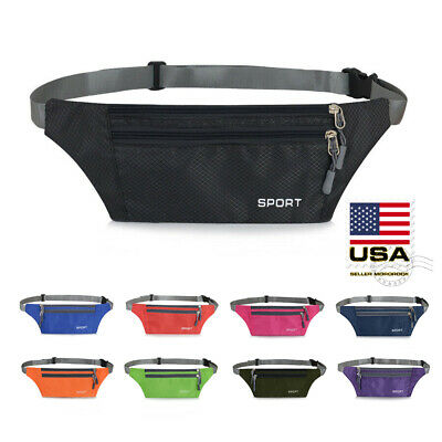 Hiking Belt - Waterproof Running Belt Fanny Pack Waist Pouch Outdoor Camping Hiking Zip Bag