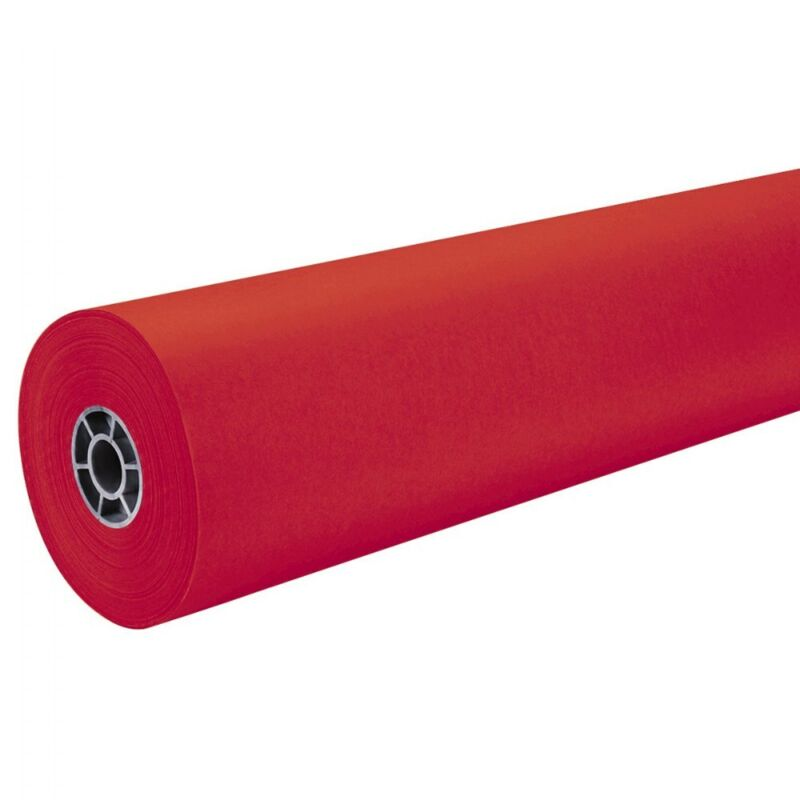 "Pacon 36"" ArtKraft Duo-Finish Paper Roll - Red"