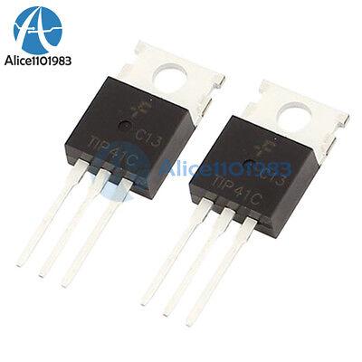 10pcs Tip41 Tip41c Npn Transistor 6a 100v To-220