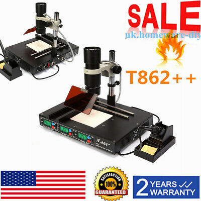 T862 Bga Ir Infrared Irda Welder Rework Desoldering Station Heating Xbox 2019