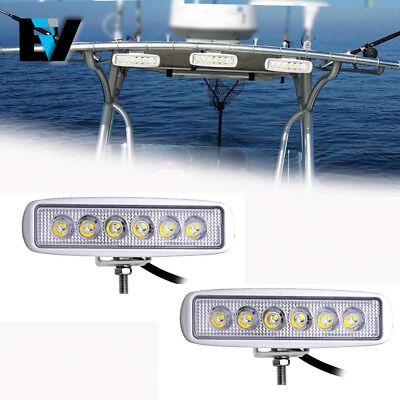 2Pcs Spreader Led Deck Marine Lights For Boat  Flood Light  12V 18W White