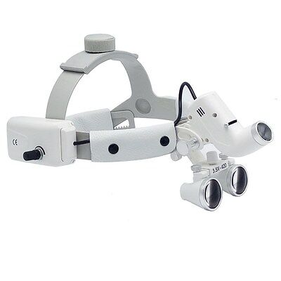 Dental Binocular Loupes Surgical Glass Magnifier Led Headlight 3.5x 280-380mm