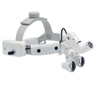 Dental Binocular Loupes Surgical Glass Magnifier Led Headlight 3.5x 280-380mm