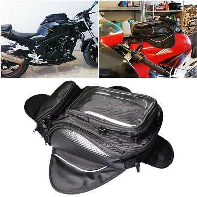 Magnetic Motorcycle Motorbike Oil Fuel Tank Bag Waterproof Saddlebag Phone Black Motorcycle Magnetic Tank Bag Luggage