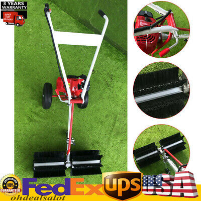 Portable Artificial Grass Brush Power Broom Handheld Turf Lawn Sweeper Device Us