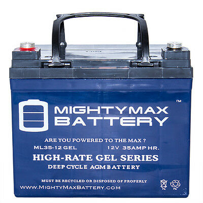 Mighty Max 12V 35Ah Gel Battery Replacement For Sevylor Minn Kota Marine