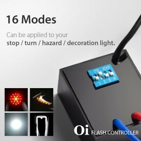 16 in 1 Oi Flash Strobe Controller Flasher Module LED Brake Light Alert Relay Indicator Turn Signals