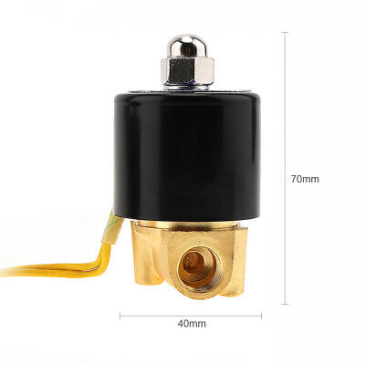 Electric Solenoid Valve Water Gas Oil Brass Normally Closed 14 Ac 110v
