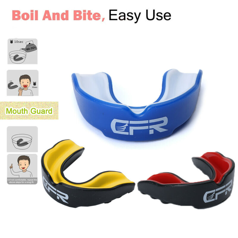 Mouth Guard Gum Shield Teeth Grinding Protection Football Ki