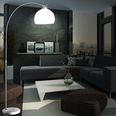 LED Arco Lámpara de Pie Altura Ajustable Salón Habitación Estar Mármol Base