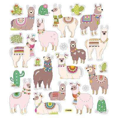 Fun Stickers (Scrapbooking Crafts Stickers Llama Fun Cactus Colorful Blankets Collars)