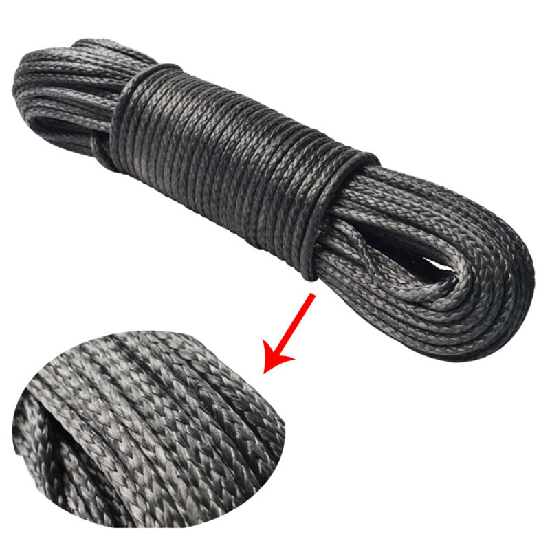 200ft Winch Rope High Abrasion Resistance Ropes Dia 6mm breaking load 10000lbs