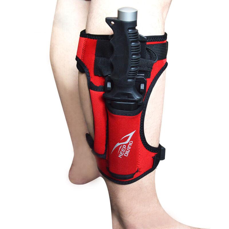 Neoprene Sheath Adjustable Strap Scuba Diving Snorkeling Knife Wrap Leg Holder