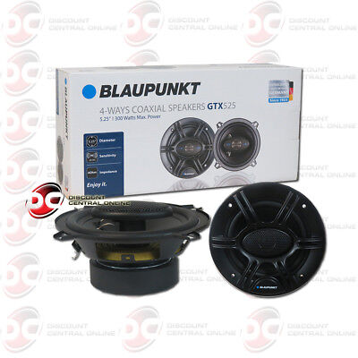 "BRAND NEW BLAUPUNKT 5.25"" 4-WAY CAR AUDIO COAXIAL SPEAKERS (PAIR) 300W MAX"