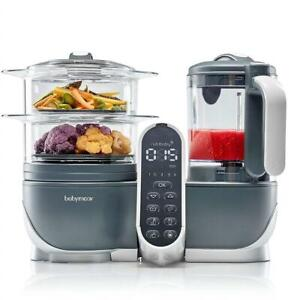 NEW babymoov Duo Meal  5-in-1 Food Prep System in Grey Condtion: New, Duo Meal Station