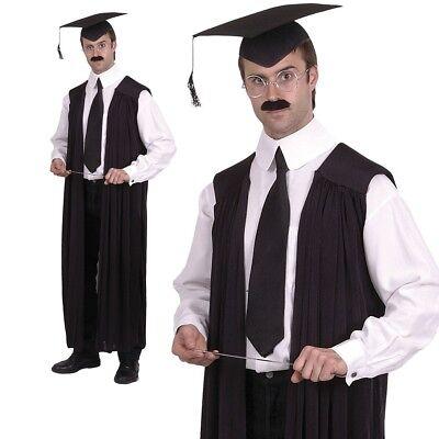 Schule Lehrer Abendkleid Schwarz Headmaster Absolvent Uniform Kostüm - Schule Lehrer Kostüm
