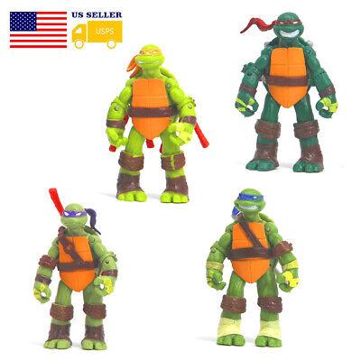 4Pc Teenage Mutant Ninja Turtles Action Figure Doll Toys Playset Gift Collection](Turtles Kids)