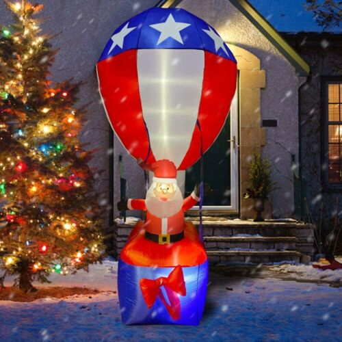 9 FT PATRIOTIC UNCLE SAM SANTA HOT AIR BALLOON AIRBLOWN INFLATABLE 4TH OF JULY