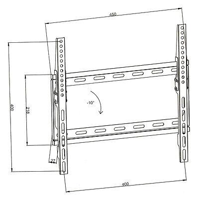 LCD Plasma TV Wandhalter Wandhalterung neigbar kippbar LED 32 bis 55 Zoll LED