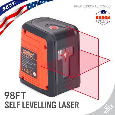 Laser Level Diy Cross Line Laser Self Leveling 98ft 2 Pedestal Suctionmagnetic