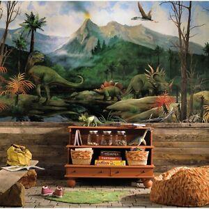DINOSAURS WALL MURAL Prepasted Dinosaur Wallpaper Boys Bedroom Decor