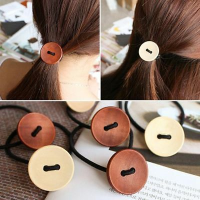 Novelty Button For Girls Hair Bands Headwear Hair Accessories Rubbers Bands